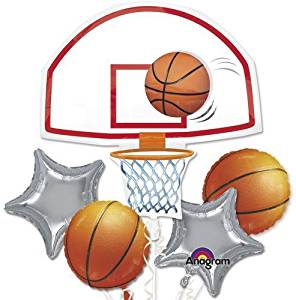 Single Source Party Supplies - Basketball Bouquet Mylar Foil Balloons