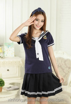 880ebaacb1d Cute oem sailor design girl school uniforms
