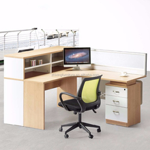 ZX-P1017 modern design office workstation modular with side cabinet open office cubicle workstation