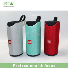 ZDW good sale Wholesale product with TF/USB/AUX/Radio high quality wireless bluetooth speaker portable 2017 fabric speaker for g