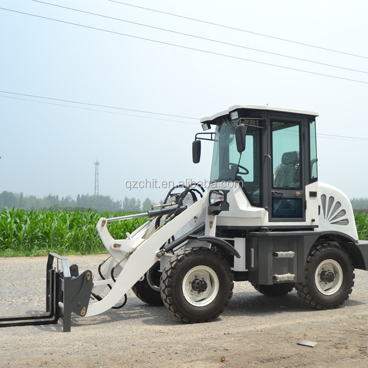 Farm tractor CE 908 wheel loader with 0.8 ton payload by Electronic joystick