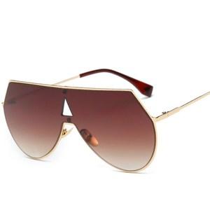 81588e6adf Shield Sunglasses 2017 Brand Designer Metal Sun Glasses Vintage Shades  Luxury Clear Lens Eyewear UV400