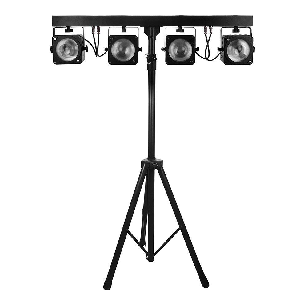 IMRELAX 2018 Wholesale 4pcs 30W RGB 3in1 COB LED Par Light System With 2.5M length Stand and Foot Control System DJ Stage Disco Party Light