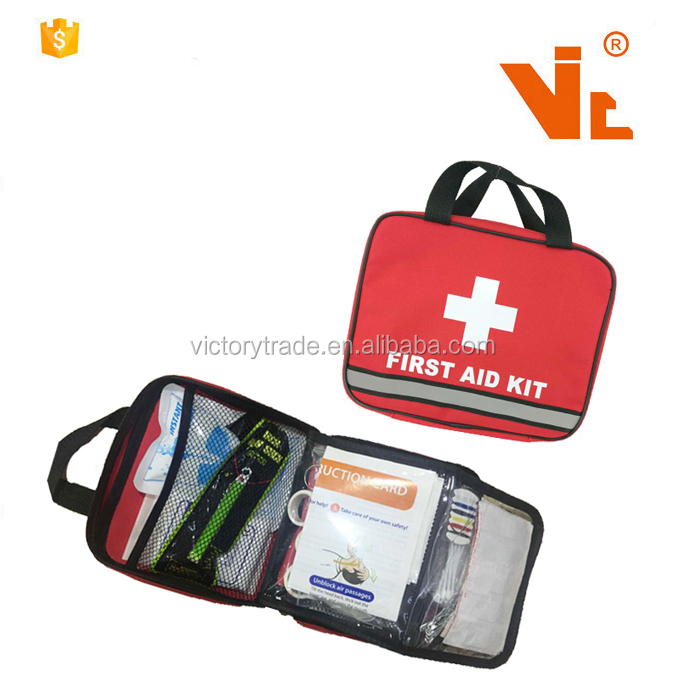 V-FB39 Promozionale Cure D'emergenza Private Label Auto Viaggio Medical First Aid Kit Pouch