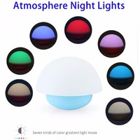 Fast Delivery 7 Color Dimmable Mushroom LED Night Light for Indoor Outdoor