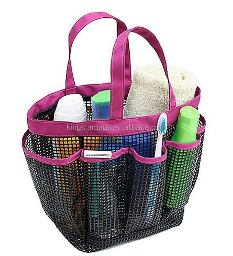 Hanging Shower Caddy Bag Mesh Bath Tote