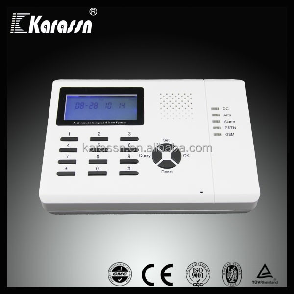 16 zones wireless intelligent GSM/GPRS and Telephone alarm system
