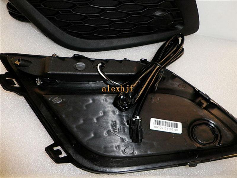 Из светодиодов дневные ходовые огни DRL из светодиодов передний бампер противотуманные фары чехол для VOLVO XC60 2009 ~ 2013 1:1 замены, Бесплатная доставка