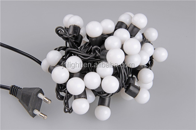 Led Round Ball Christmas Lights (white Ball String) / Large ...