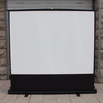 "floor pull up 60"" 80"" 100"" (4:3) projection screen portable mobile screen school education home cinema"