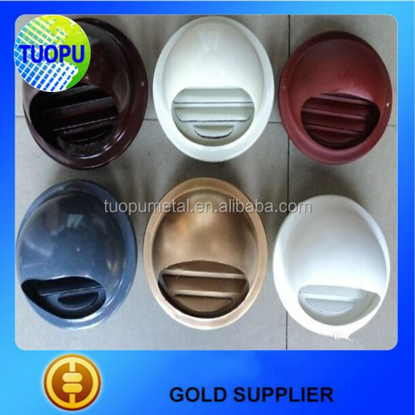 Tuopu Metal Colorful Wall Vent, paint spraying stainless steel or aluminum wall air vent cap for Kitchen