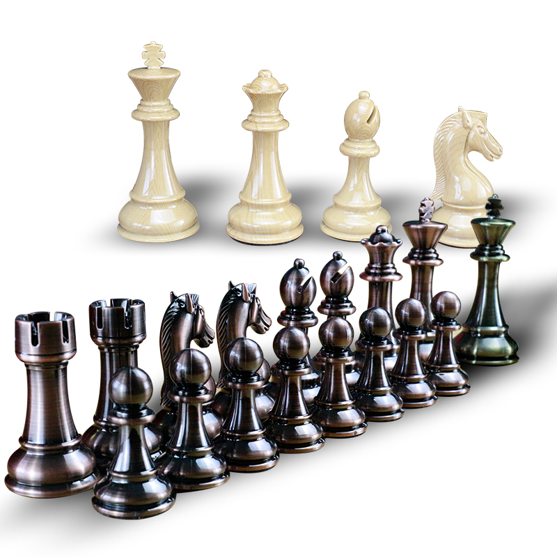 Wood Chess Pieces only without board For Replacement Of Missing Pieces