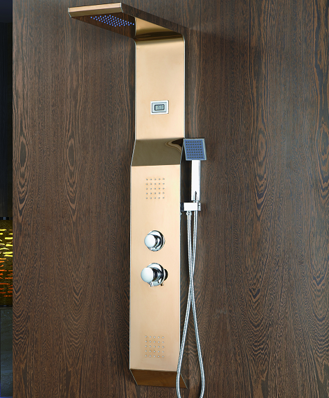 Contemporary Electronic Shower Control Panel with Hidden Head Shower #BS-6907