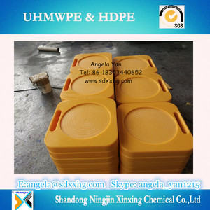 crane foot support mat/UHMWPE or HDPE crane outrigger plates/ Hoss Plates Outrigger Pads