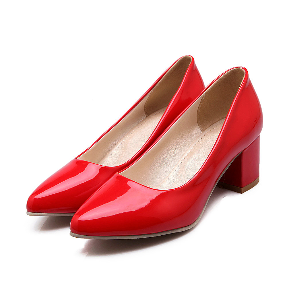 c30fc828 Get Quotations · ARMOIRE 2015 New Hot Sexy Black Red White Women Nude Pumps  Ladies Med Square Dress Heels