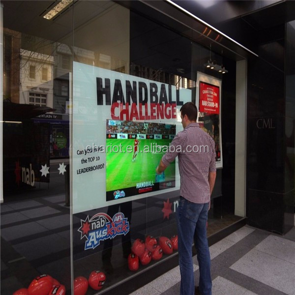 Chariot transparent interactive multi touch foil show hologram screen display