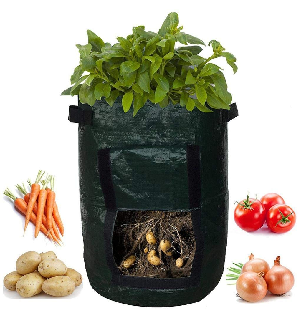 LtrottedJ DIY Potato Grow Planter ,PE Cloth Planting Container Bag ,Thicken Garden Pot