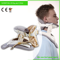 Fashion style Neck support brace ,Medical soft inflatable cervical neck collar,air cervical traction device