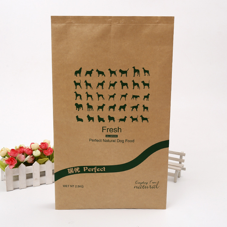 Direct Factory Price excellent quality PE aluminum paper food packaging bag for dog