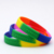 Cheap Custom Colorful Cool Diy OEM Double Sided Sport Event Silicone Wristband