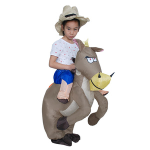 Best price funny halloween inflatable horse costumes for adults and kids