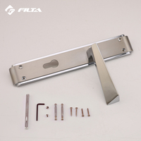 Trapezoidal level handle nickel brushed door accessories modern italian zinc main aluminium door handle