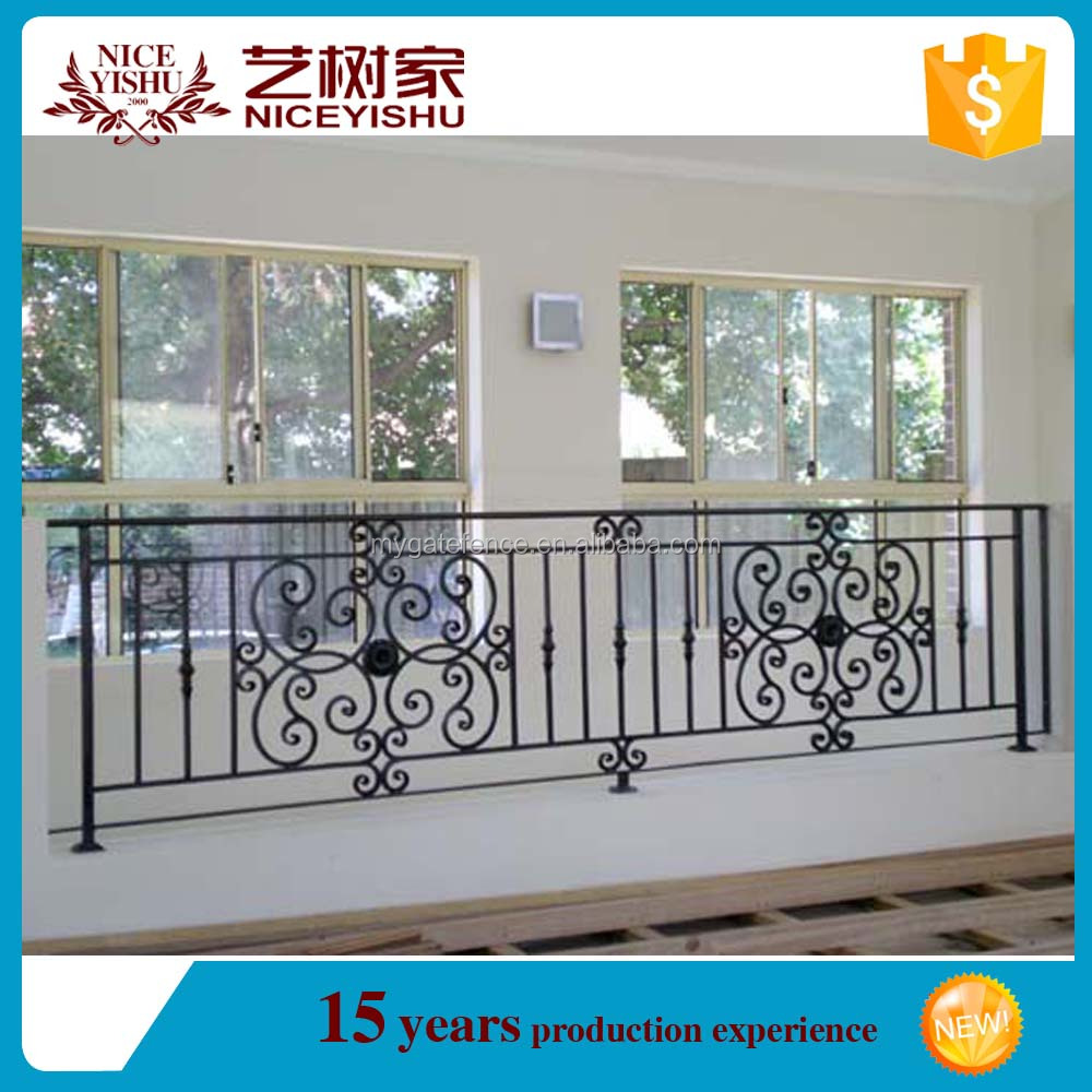 Modern wrought iron window grill design house wrought iron balcony railing