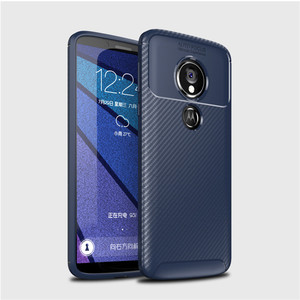 Saiboro Carbon fiber flexible tpu shockproof protective back cover phone case for motorola moto g6 play back cover