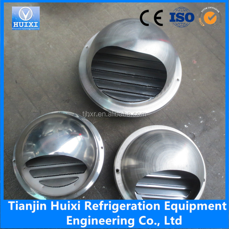 HVAC System Exterior Wall Circular Round Air Vents