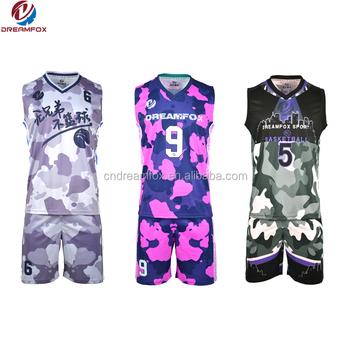 2b7d1373037 Blank wholesale jerseys 2018 Latest Best sublimation reversible Custom  basketball uniform cool jersey design