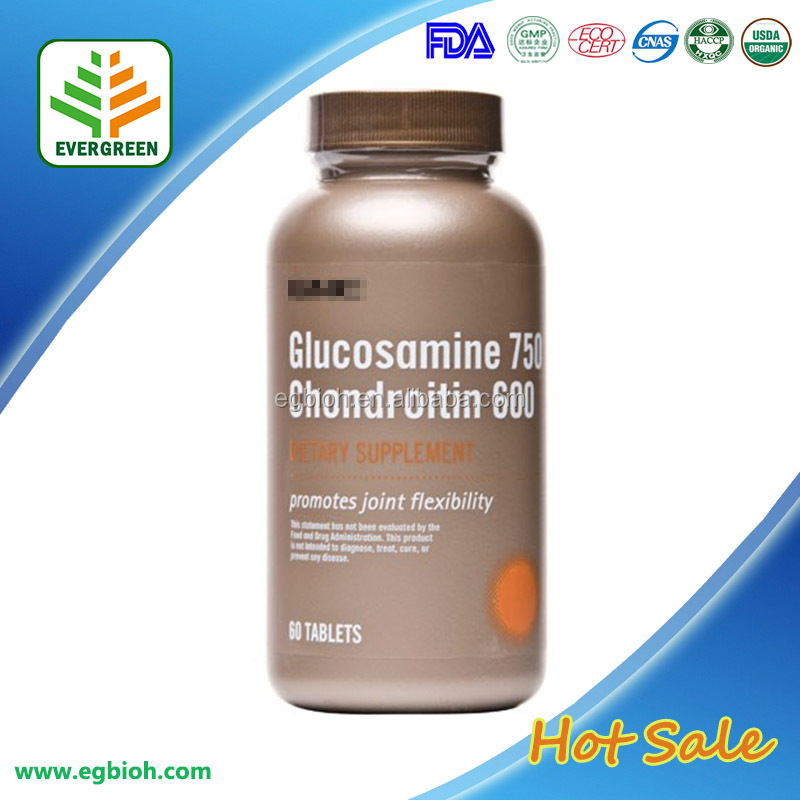 EVERGREEN Factory Price 500mg Glucosamine chondroitin ,glucosamine chondroitin tablet in bulk
