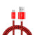 DFIFAN 1M Nylon Data USB Transfer Cable , fast charge usb cord For android