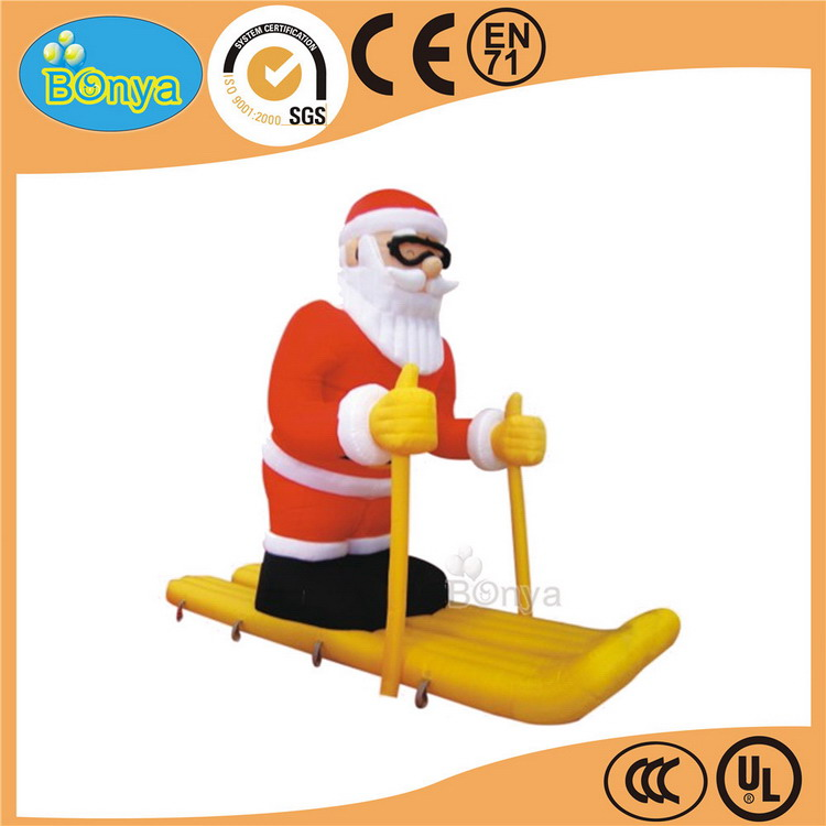Customized factory price hot sale promotion inflatable xmas santa claus toy