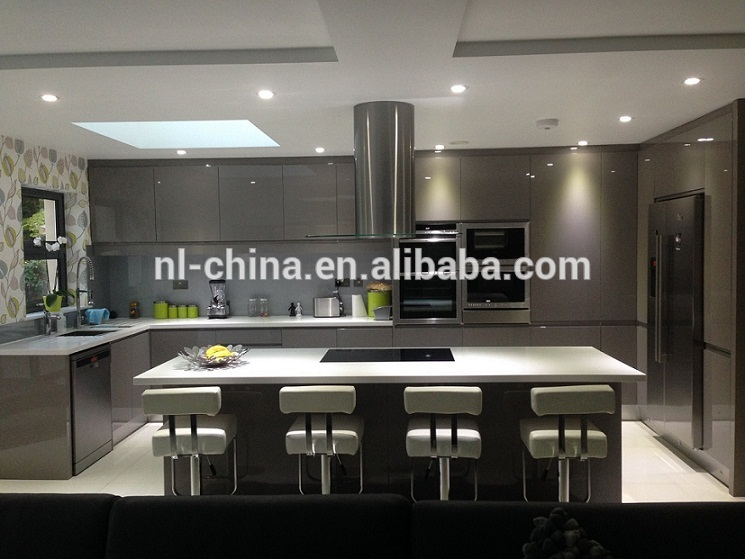 Modern Design Melamine Door Finishing Kitchen Cabinet With