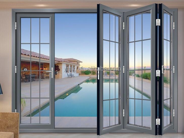 Interior Aluminum Frame Glass Bifold Door