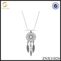 Antique 925 sterling silver unique design necklace dreamcatcher pendant necklace jewelry