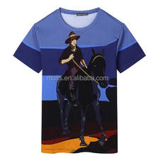 High quality custom full color printing sublimation digital printing T shirt