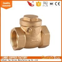 Gutentop ART.4001 Threaded F/F ISO228/1 Forged Brass Body Brass Surface 1/2 1 1/4 2 4 inch Brass Universal Check