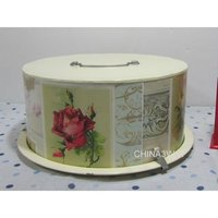 metal iron cake tin box for carrier