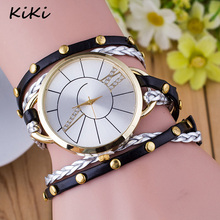 >>>2017 New Fashion Vintage Colorful Multilayer Faux Leather Strap Band Wrap Women Bracelet Quartz Female Wrist Watch