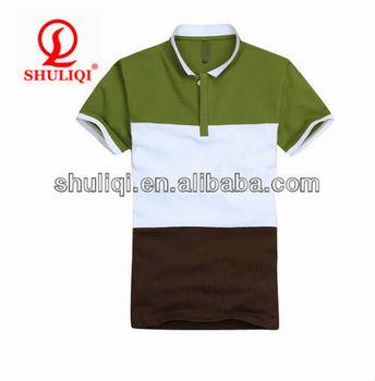 Custom Fashion High Quality 3 Color Combination Polo Shirts Design