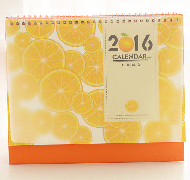 Electronic Monthly Calendar,2016 Cute Orange Desk Calendar,Paper ...
