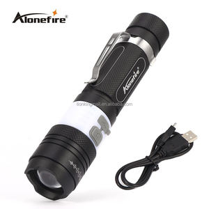 AloneFire X190 Portable 3800LM CREE T6 Rechargeable COB LED Flashlight Torch 6 Mode Zoomable Camping Bike Light Lamp Lanterna