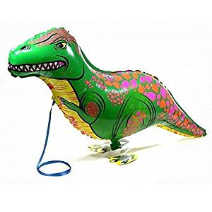 SODIAL(R)Green Walking Pet Balloon Animal Airwalker Foil Balloon Helium Kids Children Fun Party Decors Dinosaur