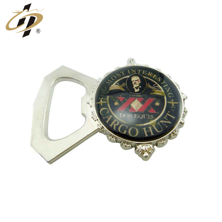 2019 Wholesale cheap custom 3d epoxy Great man's picture metal bottle opener