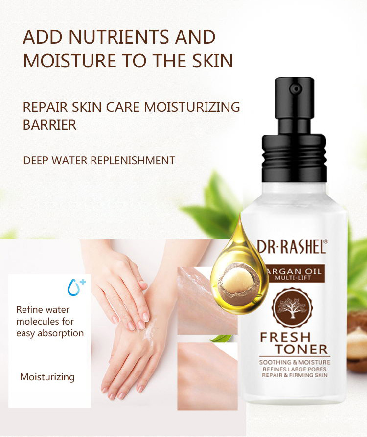 DR.RASHEL Soothing Moisture Refine Large Pores Natural Purified Argan Oil Fresh Face Skin Toner