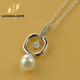 High quality hot sale 2017 cz stone jewelry type main stone shell pearl necklace