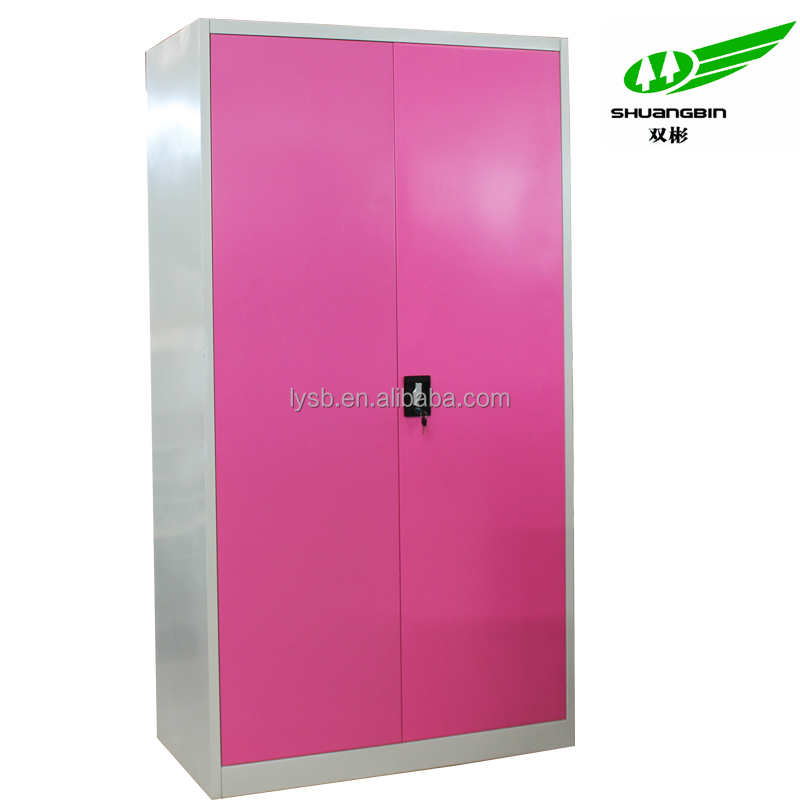2 Door Metal Bedroom Furniture Cheap Clothes Cabinet Locking ...