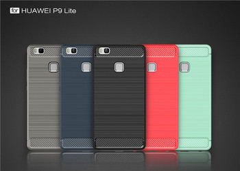 online store 6e9f3 5bfbd Fashion Carbon Fiber Style Phone Case For Huawei P9 Lite,Rugged Armor Cover  For Huawei P9 Lite - Buy Phone Case For Huawei P9 Lite,Rugged Armor Cover  ...