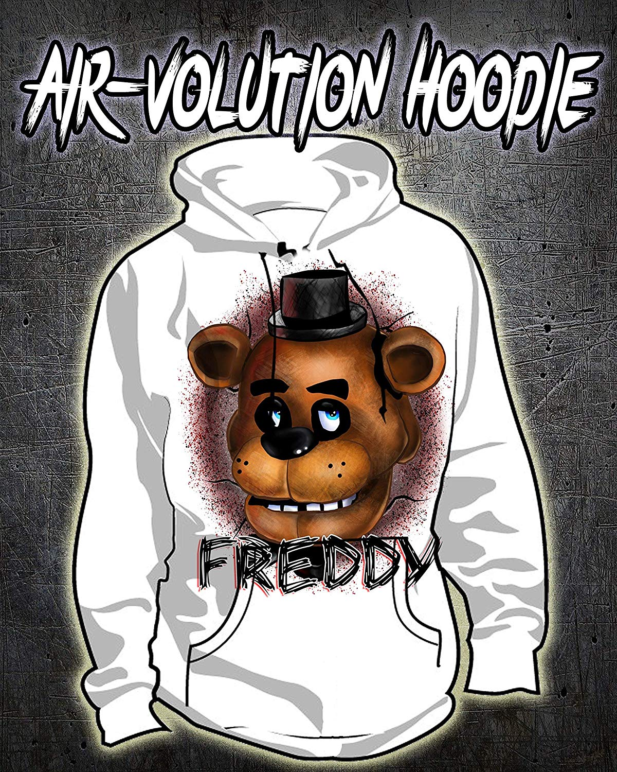 Personalized Airbrush Freddy Hoodie